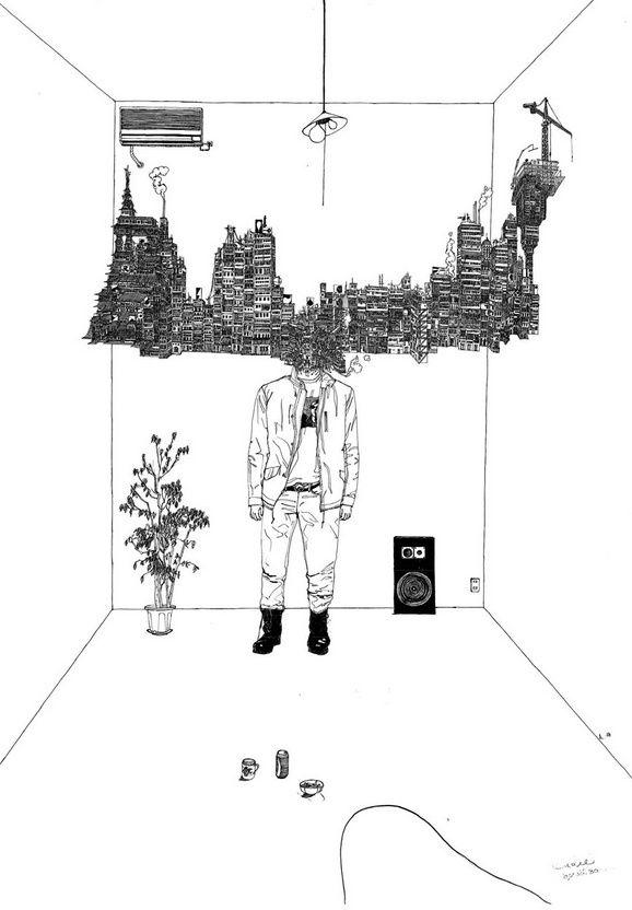 sakaguchi-kyohei-drawings-4.jpg (578×832)