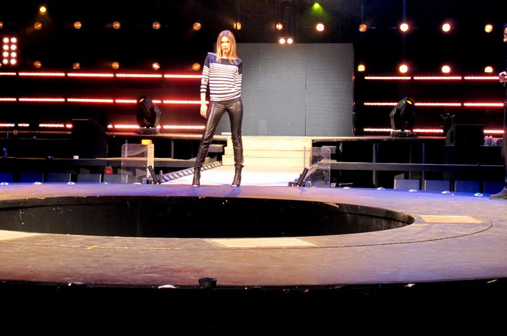 Vicky Kaya rehearsing on the stage of MadWalk 2013 by Coca-Cola light