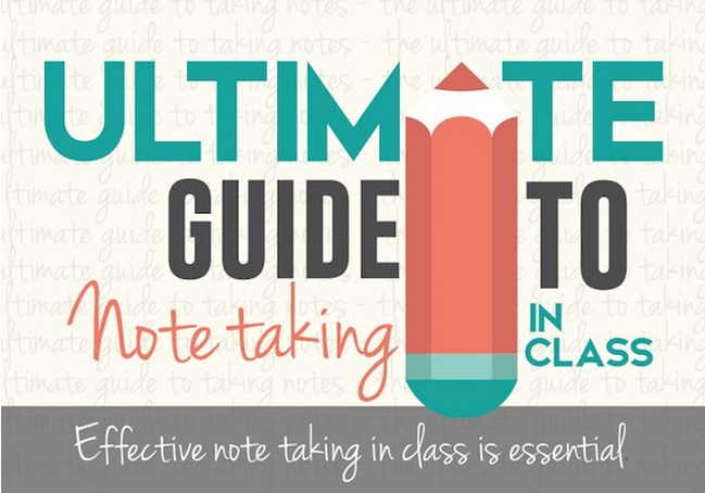The Ultimate Guide to Note Taking In Class, an Infographic by WBSA featured in Hubspot's top 10 Infographics of 2015
