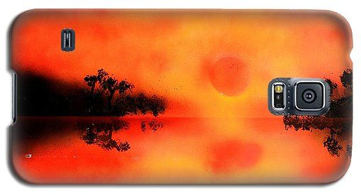 Joy Of The Sun Galaxy S5 Case Printed with Fine Art spray painting image Joy Of The Sun by Nandor Molnar (When you visit the Shop, change the orientation, background color and image size as you wish)
