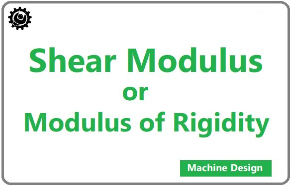 Shear modulus or  Modulus of Rigidity is The ratio of the shear stress to the shear strain. Let's assume a block as shown in the figure.