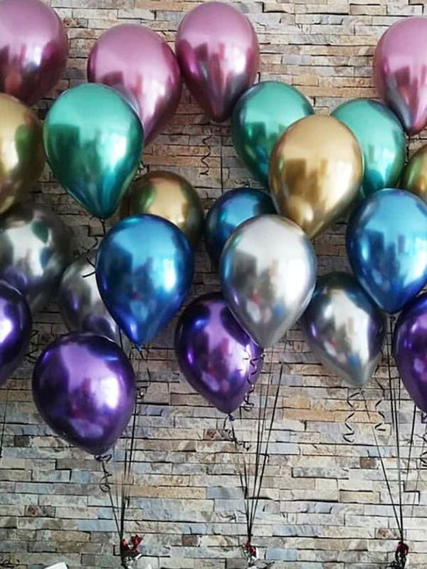"20 X Latex PEARL Metallic 10/"" BALLOONS BALLONS helium  BALOONS Birthday Wedding"