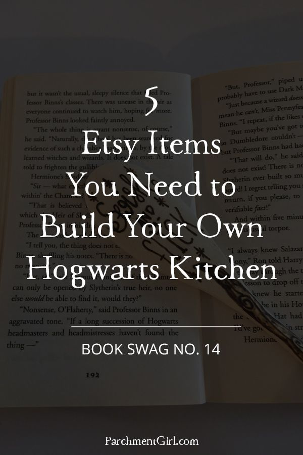 Turn your kitchen into the Hogwarts kitchen with these 5 Etsy finds, including a Harry Potter apron, a stirring spoon that doubles as a wand, and more!