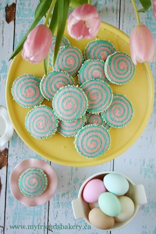 Cotton Candy Pinwheel Cookies @myfriendsbakery