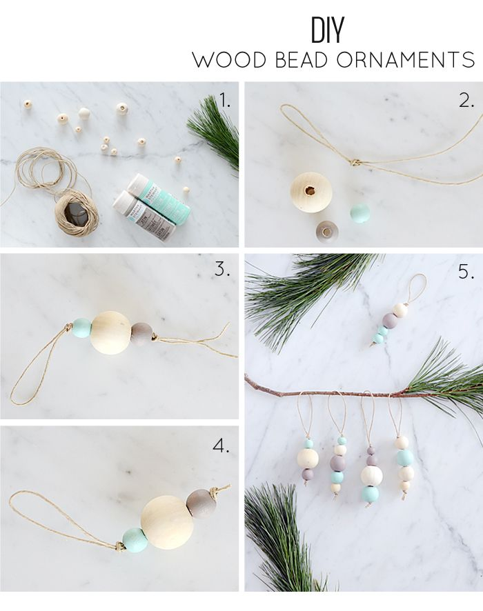 Nalle's House: DIY Wood Bead Ornaments: I Made Some Too!