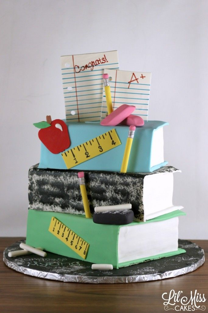 Teachers Book Stack Cake