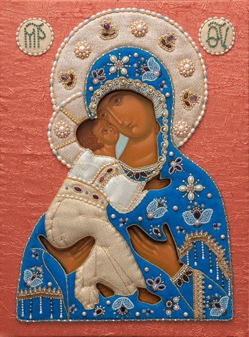 Mother of God of Vladimir - Hand-Painted Icon from the Workshop of St. Elisabeth…