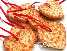 patterned paper for easy decoration of cookies: ScrapCooking®
