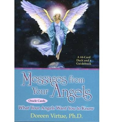 A card deck, each card having a gorgeous angel painting, along with a one- or two-sentence message.