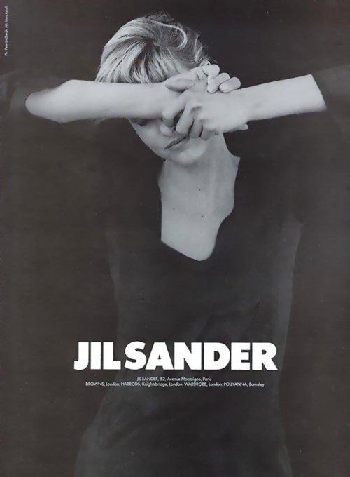 Jil Sander FW 1994. Photographer: Peter Lindbergh. Model: Linda Evangelista