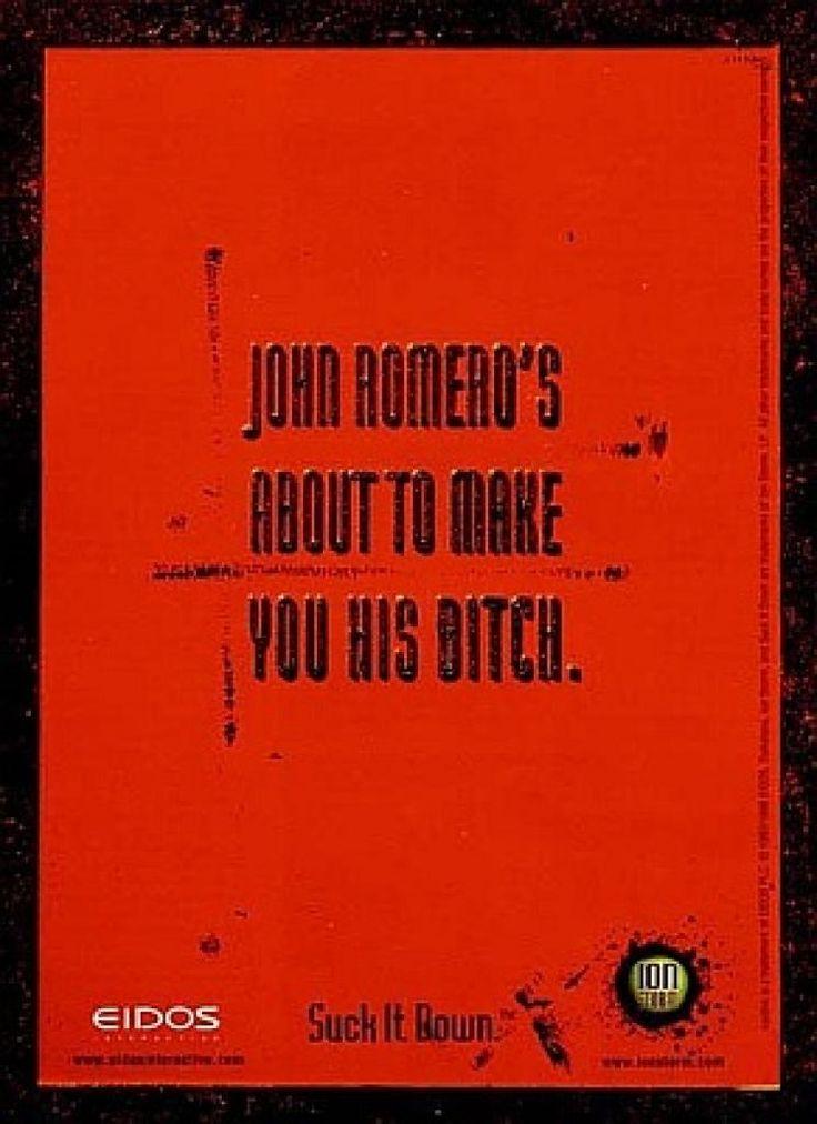 John Romero's Daikatana - Go home John. You're drunk.