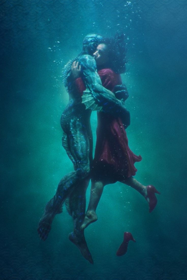 See the stunning new poster for Guillermo del Toro's critically acclaimed fantasy romance, The Shape of Water, starring Doug Jones and Sally Hawkins.