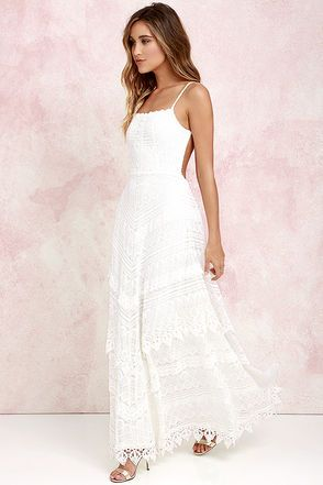 Beneath the Garden Arbor Ivory Lace Maxi Dress at Lulus.com!