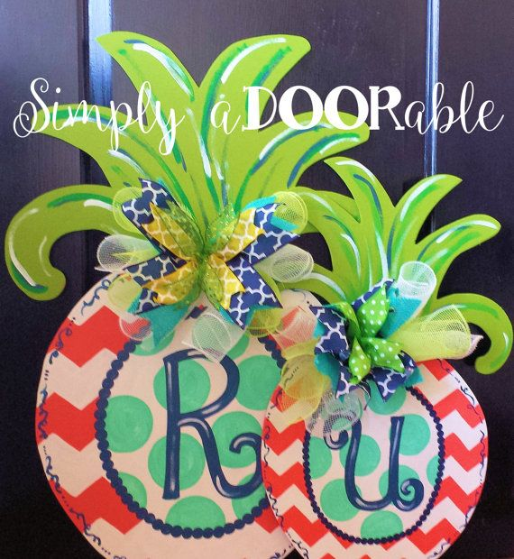 Simply aDOORable Large Pineapple Wood Door by SimplyaDOORableNC