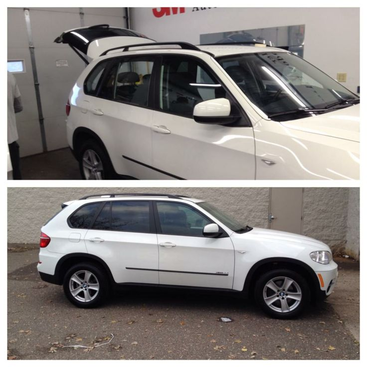 Before and AfterBMW Window Film Automotive Window Tint