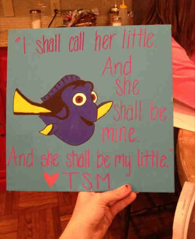 "Sorority Little Crafts: ""I Shall Call Her Little and She Shall Be Mine. And She Shall Be My Little."" TSM"