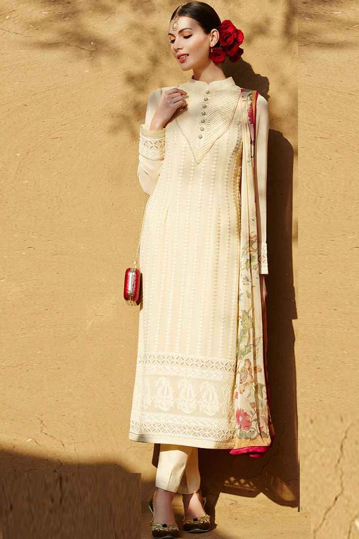 Yellow Straight Indian Party Wear Salwar Suit From Skysarees.