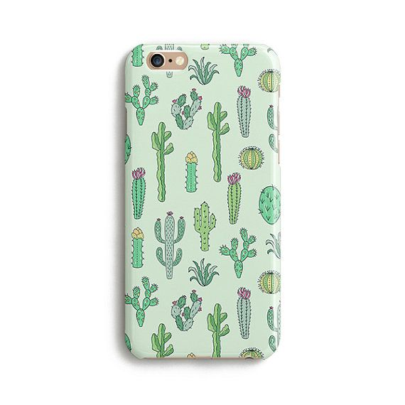 Cactus drawing iPhone 7 Plus case Samsung Galaxy S7 by Catsicorn