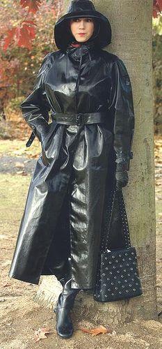 pláštěnka Fetish Clothing · Shiny · Latex · Rubber · Gothic · Pinup · Punk