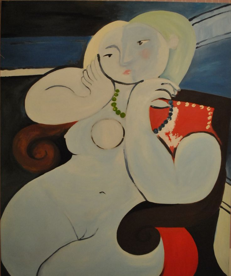 """Copy  """"Naked woman in red armchair"""" P.Picasso 2011"""