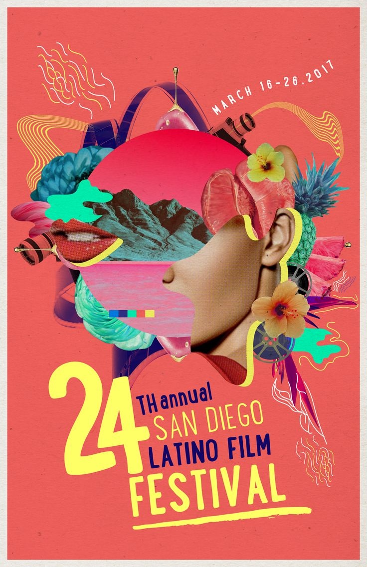 San Diego Latino Film Festival Illustration Poster on Behance