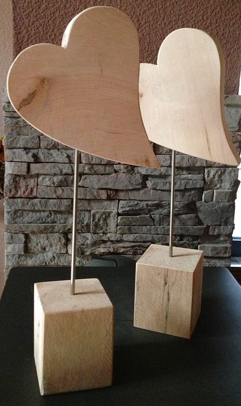 Herz-Standfuß, Größe 1, Höhe 40 cm, Holzdeko | HOLZLIEBE-ISERLOHN | WOHNACCESSOIRES AUS HOLZ | MADE IN GERMANY