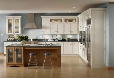 Best Kraftmaid Canvas Painted Maple Cabinets Recessed Panel 400 x 300