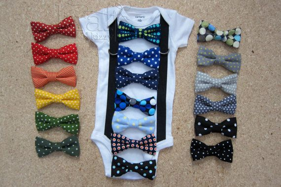 Baby Boy Suspender Outfit and your choice of 1 by KraftsbyKizzy