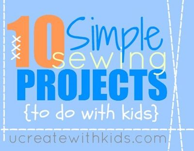 10 Simple Sewing Projects for Kids!: For Kids, Books Stuff, Kids Crafts, Projects Ideas, Simple Sewing Projects, 10 Simple, Kids Sewing Projects, Sewing Machine, Sewing Kids