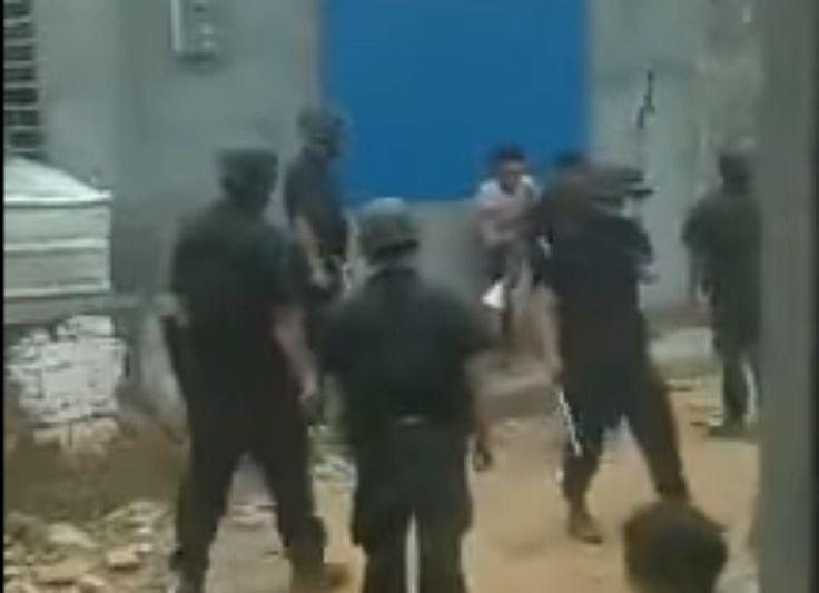 Extrait de la vidéo montrant des villageois frappés par des hommes de main à Haikou - Publié le 3 mai 2016