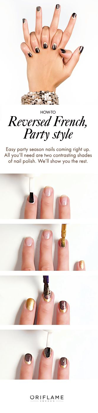 Makeover your manicure with this reversed fresh mani style. Ready in just a few simple steps.