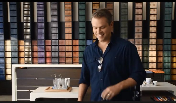 Matt Damon wearing Ray-Ban in the new Nespresso ad! Ray ...