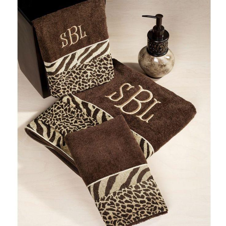 brown zebra print bathroom decor