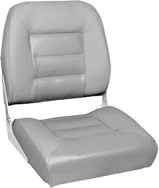 """Сиденье для моторной лодки Premium (75122G)  Комфортабельное лодочное кресло из алюминиевого каркаса с виниловыми вставками-""""подушками"""" на спинке и сиденье. Материалы приспособлены для использования в соленой морской воде.Кресло крепится при помощи 4-х сарорезов к горизонтальной ровной поверхности. В дополнение к креслу Вы можете приобрести аксессуары:• поворотная платформа для кресла - 115026;• стойки под кресло моделей 8WD1250, 8WD1251 или 8WD1255;• быстроразъёмный переходник - 387010…"""