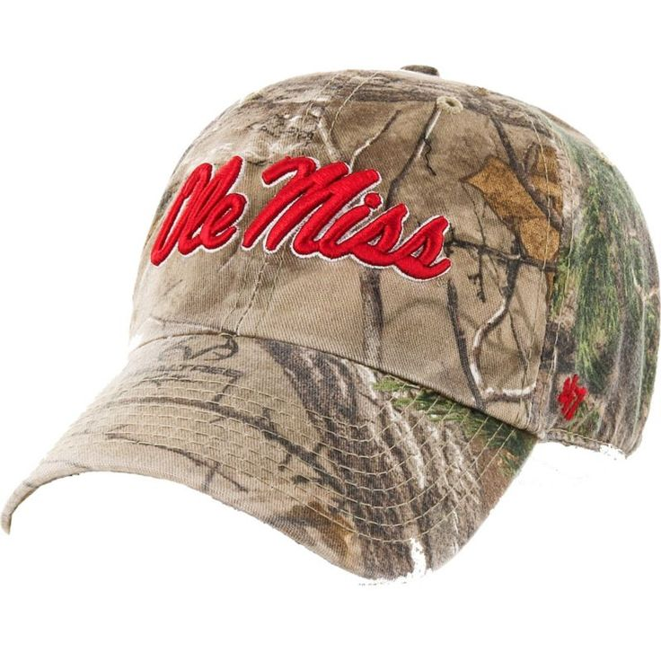 '47 Men's Ole Miss Rebels Camo Clean Up Adjustable Hat, Team