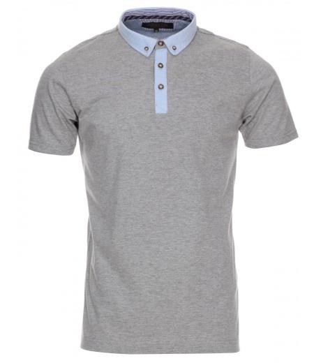 Light Grey Marl Smart Polo Shirt - £12.99