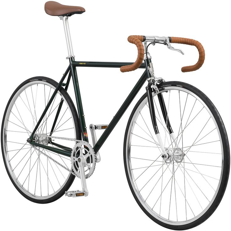 Pure Fix Premium Fixed Gear Single Speed Bicycle, 50cm/Small, Cleveland Green/Silver