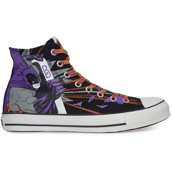 CONVERSE Chuck Taylor Dc Comics - Batman shoes ($34) ❤ liked on Polyvore featuring shoes, sneakers, converse, batman, sapatos, lacing sneakers, converse high tops, lace up sneakers, high top shoes and converse footwear