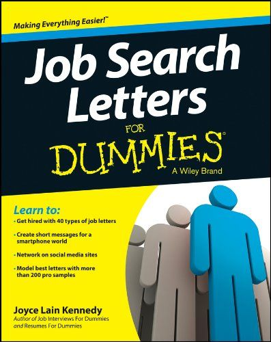 May 15 Kindle US EBook Daily Deal Job Search Letters For Dummies