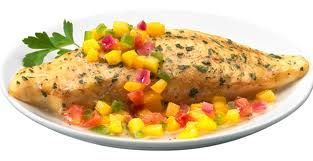 Grilled Tilapia with Mango Salsa Tilapia is a great mild whitefish that is generally inexpensive to by and has wonderful flavor when cooked righ... See more: http://goo.gl/G6tBIS  #mangorecipes   #mangoes   #summerrecipes   #easyrecipes     #foodie #fish