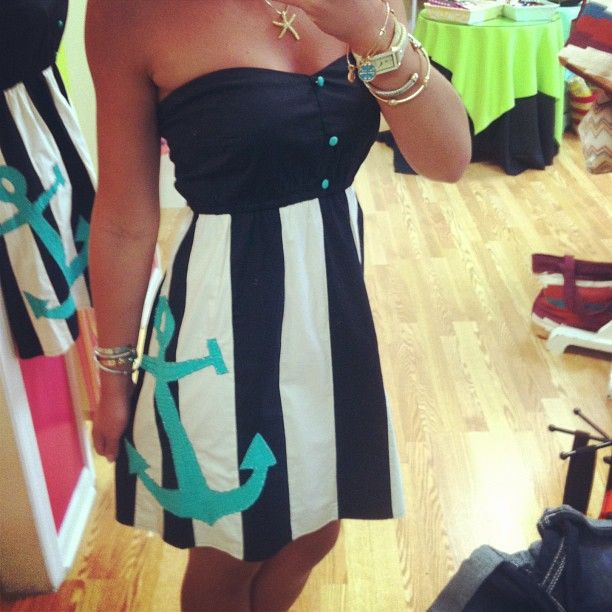 Anchor Dress...beyond cute and I will definitely try to find this to rock this summer! just love it!