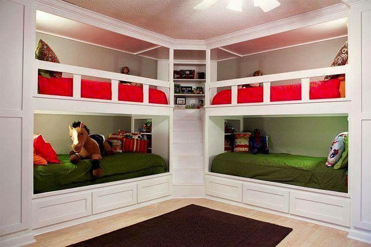 Shared corner bed