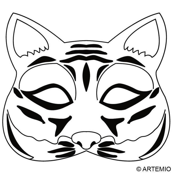 Masques - Masque de Chat à colorier