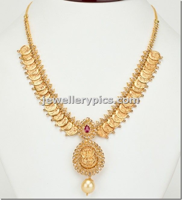 Kasulaperu necklace with uncuts - Latest Jewellery Designs