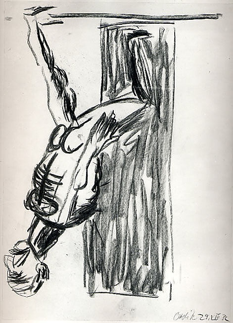 Georg Baselitz; Untitled, 1982, Charcoal on paper; Metropolitan Museum of Art, New York