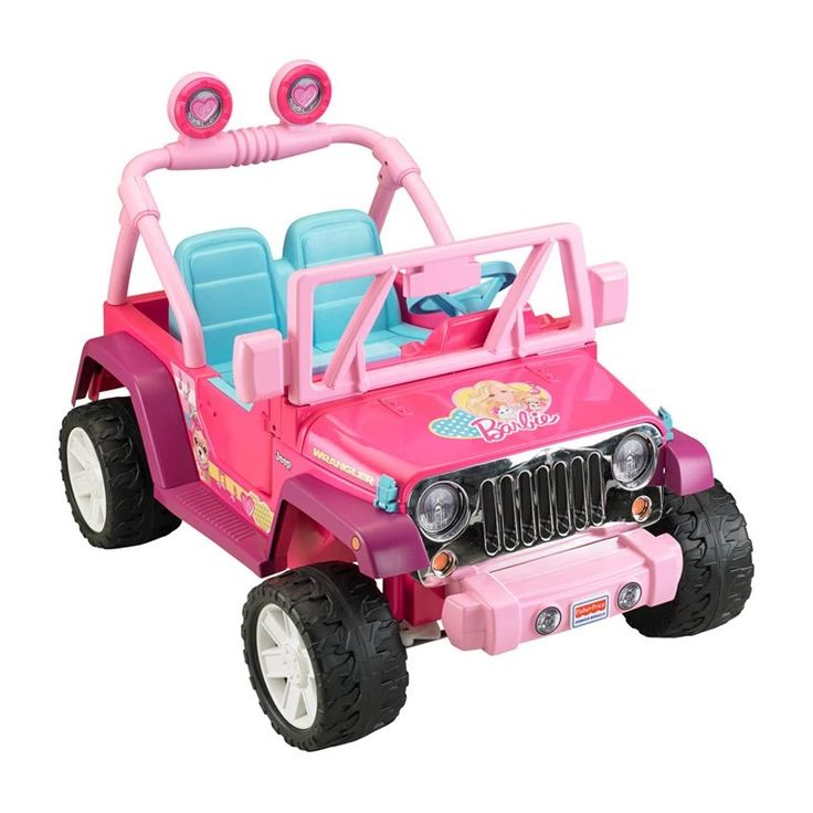Fisher-Price Power Wheels Barbie Jammin Jeep Battery Powered Riding Toy - Pink | from hayneedle.com