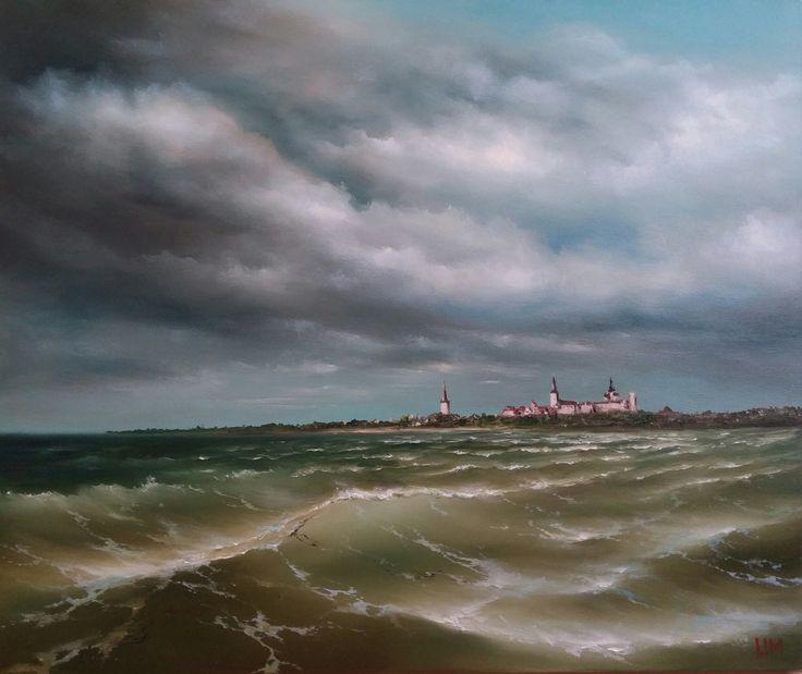 живопись - морской пейзаж, купить картину Вид на Ревель