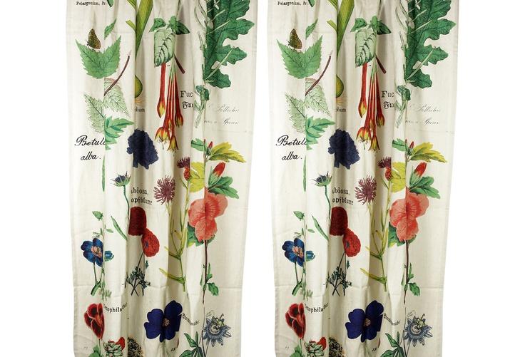 Botanical Curtain Panels, Pair on One Kings Lane today