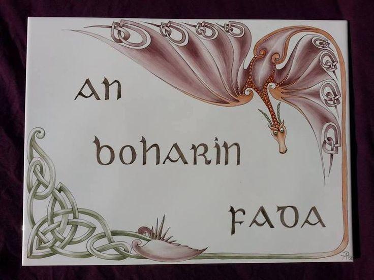 Hausnummer+keltischer+Drache+handgemalt++von+meinmalwerk+auf+DaWanda.com
