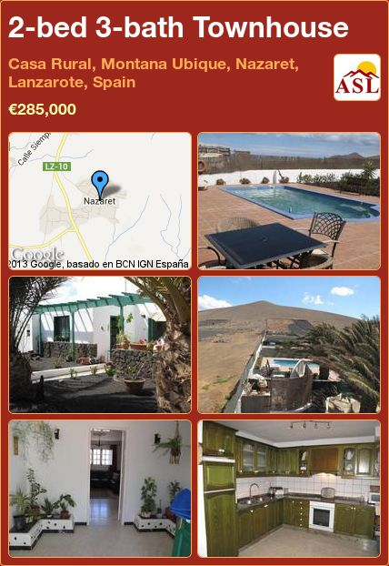 2-bed 3-bath Townhouse in Casa Rural, Montana Ubique, Nazaret, Lanzarote, Spain ►€285,000 #PropertyForSaleInSpain